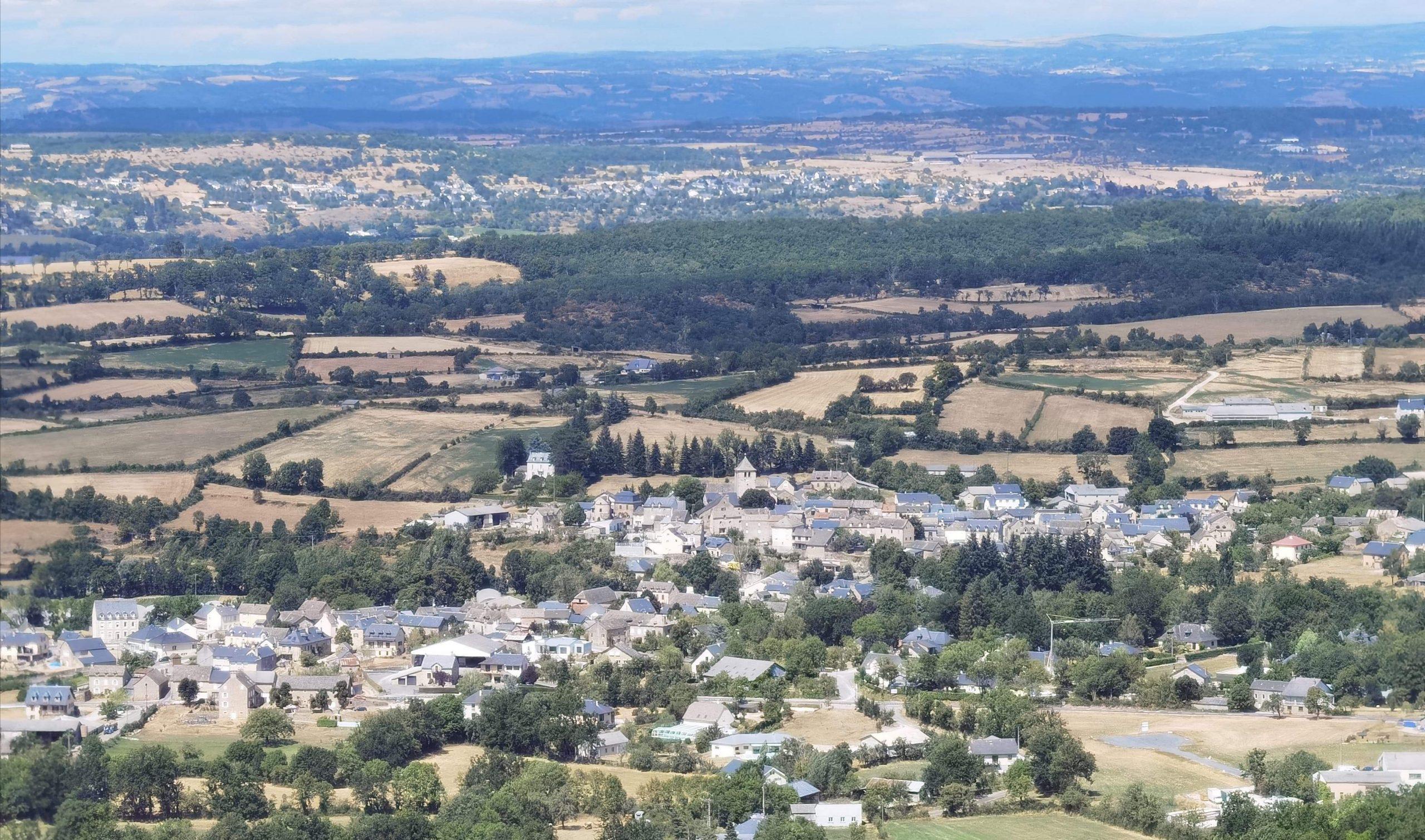 Vue aérienne d'Agen d'Aveyron